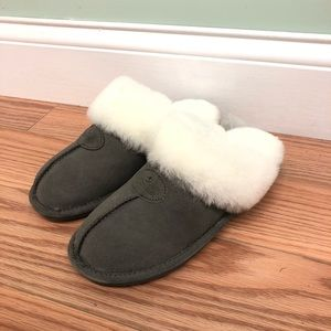 NukNuuk Leather Slippers: Grey (PM2075)